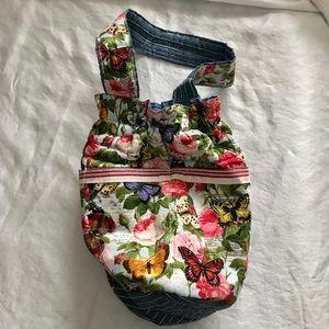 Hand made butterfly bucket purse